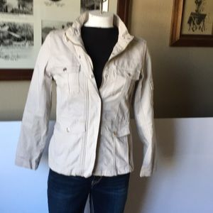 Kenzie denim jacket light colored and in like new condition.